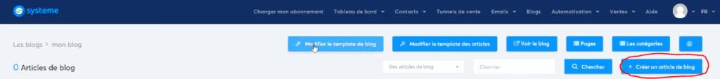 créer un article de blog